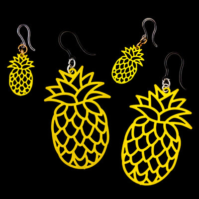 Pineapple Earrings (Dangles) - all sizes and yellow