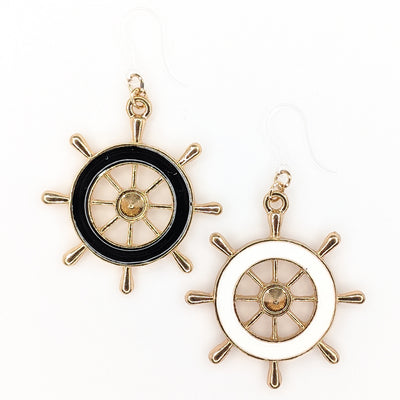 Ship Wheel Earrings (Dangles) - all colors