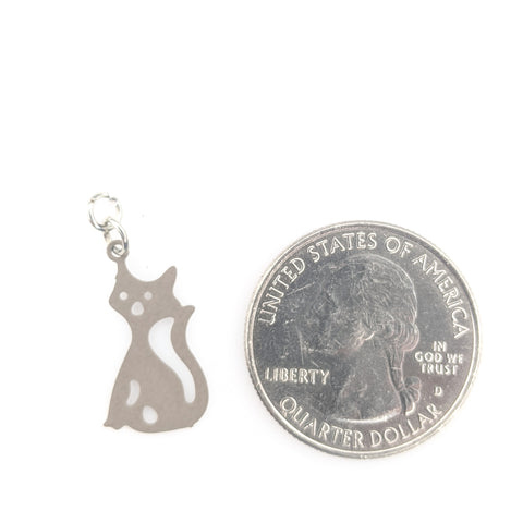 Scaredy Cat Earrings (Dangles) - size comparison quarter