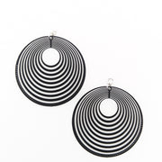 Stacked Hoop Earrings (Dangles) - black