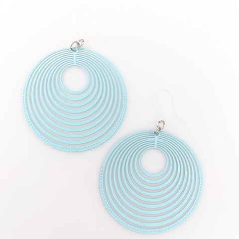 Stacked Hoop Earrings (Dangles) -turquoise
