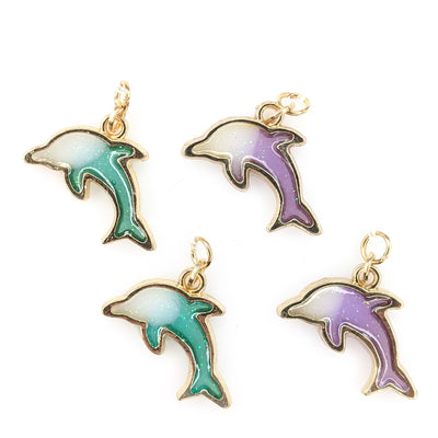 Sparkly Dolphin Earrings (Dangles) - all colors