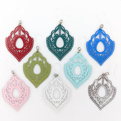 Lace Pendant Earrings (Dangles) - all colors