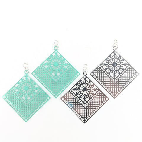 Quilt Earrings (Dangles) - all colors
