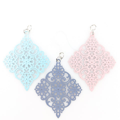 Decorative Diamond Earrings (Dangles) - all colors