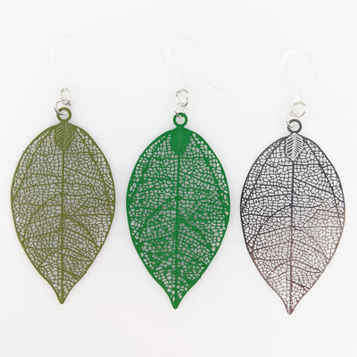 Perfect Leaf Earrings (Dangles) - all colors