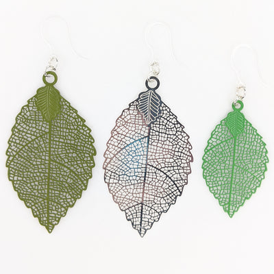 Jagged Leaf Earrings (Dangles) - all variants