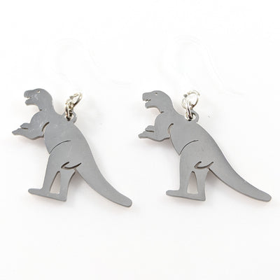 Metallic T-Rex Earrings (Dangles)