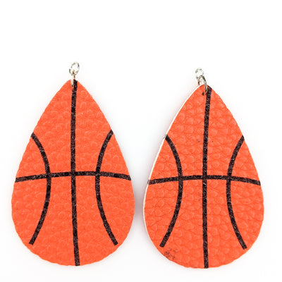 Basketball Skin Earrings (Teardrop Dangles)
