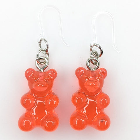 Gummy Bear Drop Earrings (Dangles) - red(ish)