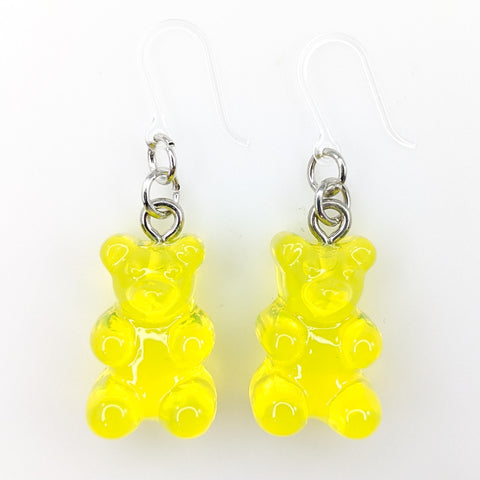 Gummy Bear Drop Earrings (Dangles) - yellow