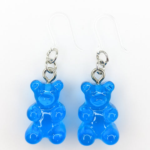 Gummy Bear Drop Earrings (Dangles) - blue