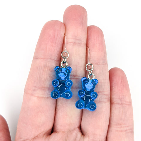 Gummy Bear Drop Earrings (Dangles) - size comparison hand