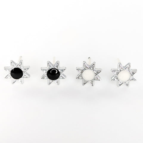 Monochrome Sun Earrings (Studs) - all colors