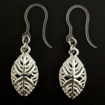 Silver African Mask Earrings (Dangles) - silver