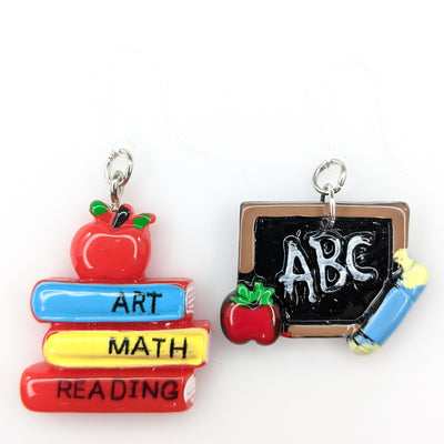 Teacher Supplies Earrings (Dangles) - various colors
