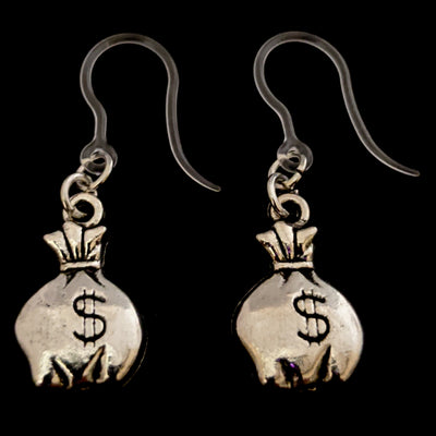 Money Bag Earrings (Dangles)