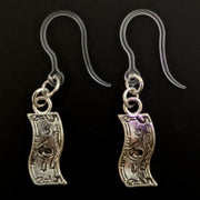 Dollar Bill Earrings (Dangles)