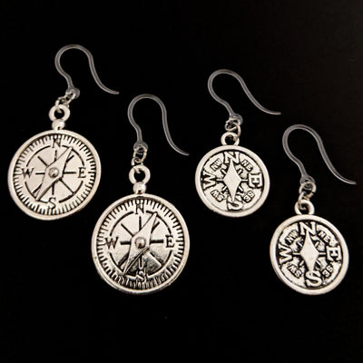 Compass Earrings (Dangles) - all sizes