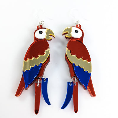 Exaggerated Parrot Earrings (Dangles)