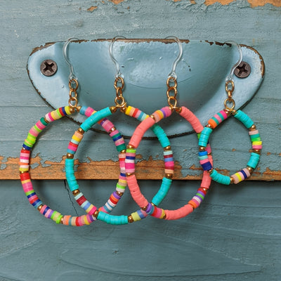 Heishi Bead Hoop Earrings (Dangles) - all styles
