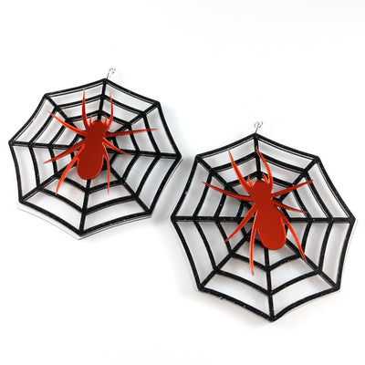 Exaggerated Spider Web Earrings (Dangles)