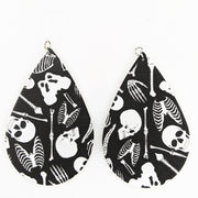 Skeleton Bones Earrings (Teardrop Dangles)