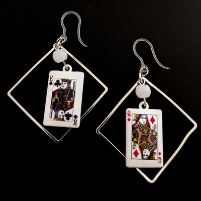 Decorative Playing Card Earrings (Dangles)
