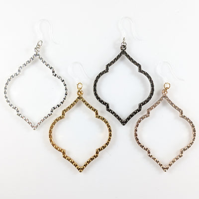Rounded Rhombus Earrings (Dangles) - all colors