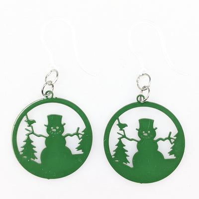 Snowman Ornament Earrings (Dangles)