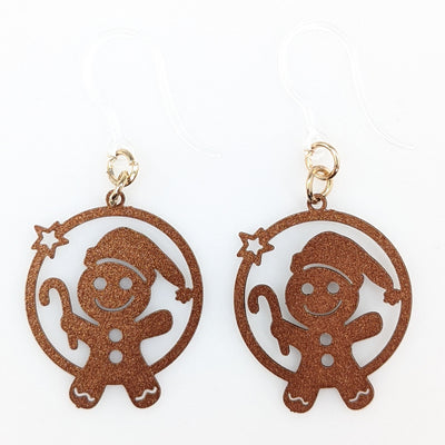 Gingerbread Candy Cane Earrings (Dangles)