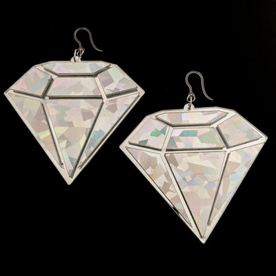 Exaggerated Diamond Earrings (Dangles)