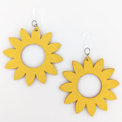 Sunflower Cut-Out Earrings (Dangles)