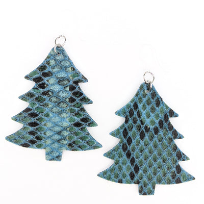 Textured Christmas Tree Earrings (Dangles)
