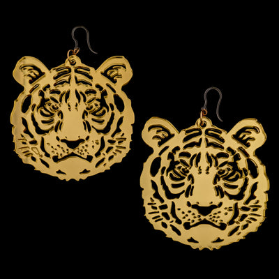 Exaggerated Tiger Earrings (Dangles)