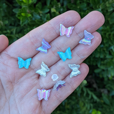 Shimmery Butterfly Earrings (Studs) - all colors
