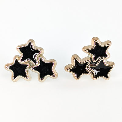Gold Rimmed Star Cluster Earrings (Studs)