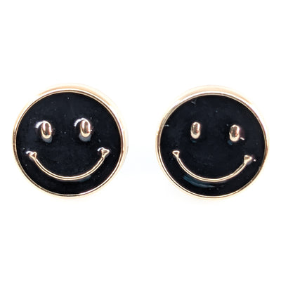 Gold Rimmed Emoji Earrings (Studs)