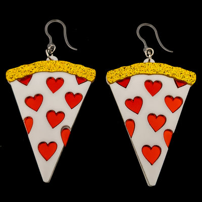 Exaggerated Pizza Earrings (Dangles)