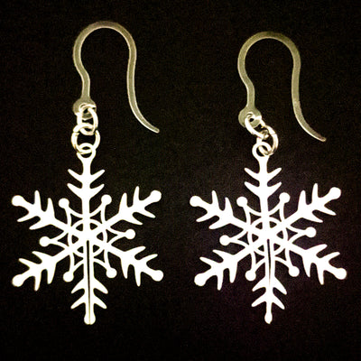 Perfect Snowflake Earrings (Dangles)