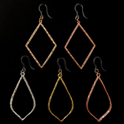 Hammered Minimalist Earrings (Dangles) - all colors and styles