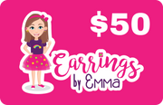 Digital Gift Card - earrings $50