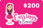 Digital Gift Card - earrings $200