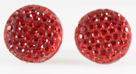 Bubble Button Earrings (Studs) -red