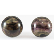 Galaxy Button Earrings (Studs) - black and gold