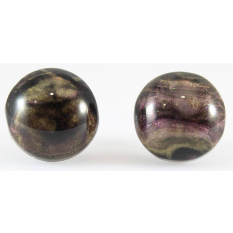 Galaxy Button Earrings