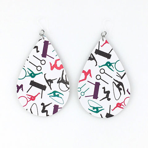 Gymnastics Teardrop Earrings