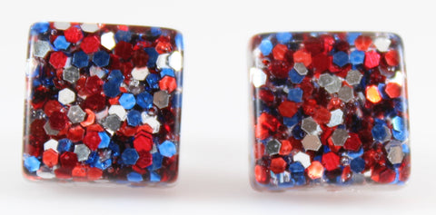 Confetti Square Earrings