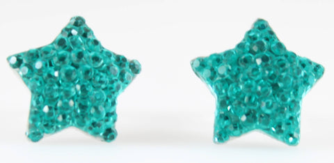Bubble Star Earrings (Studs) - aqua