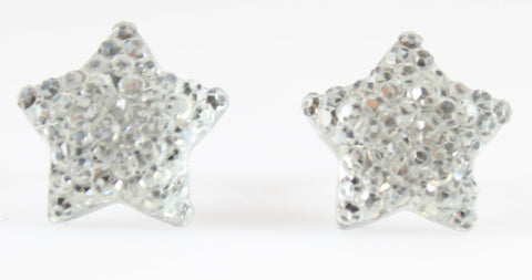 Bubble Star Earrings (Studs) - silver